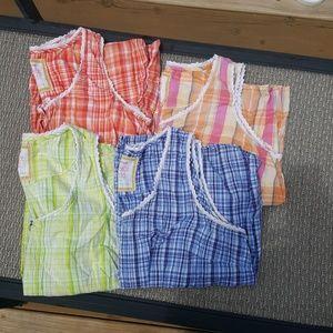 Avenue Plaid Sleeveless Shirts